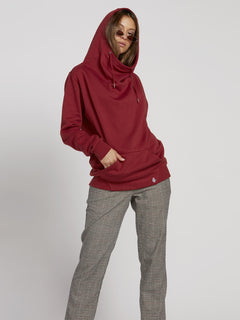 Walk On By High Neck Hoodie - Auburn (B3131810_AUB) [3]