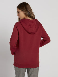 Walk On By High Neck Hoodie - Auburn (B3131810_AUB) [B]