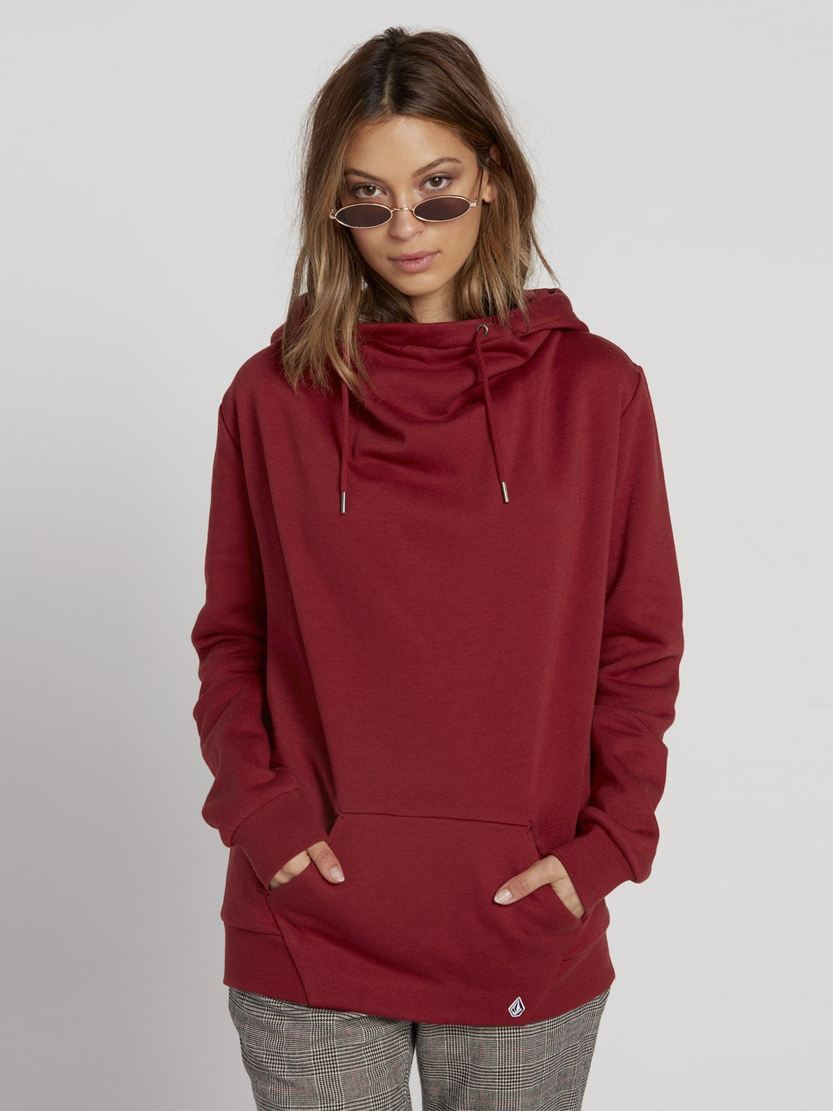 Walk On By High Neck Hoodie - Auburn (B3131810_AUB) [F]