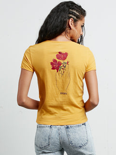 T-shirt à manches courtes Don't Even Trip - Citrus Gold