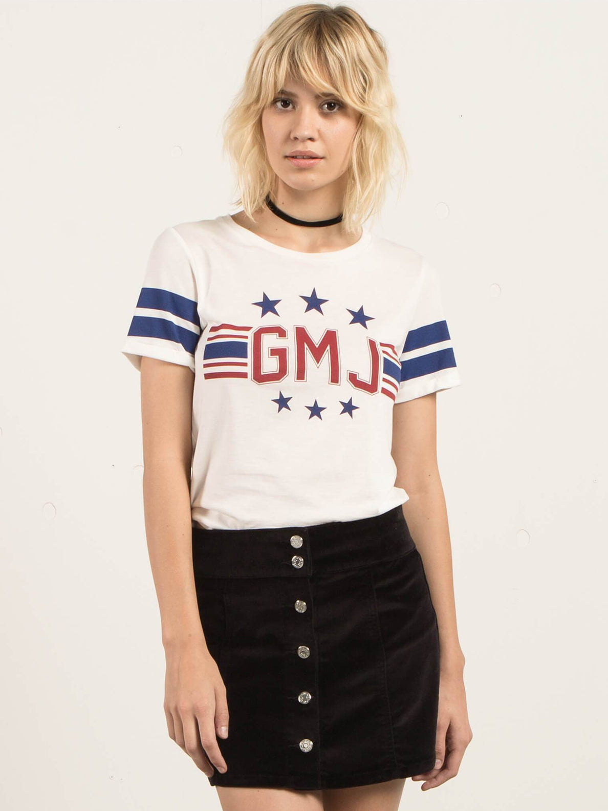 T-Shirt Georgia May Jagger - Star White