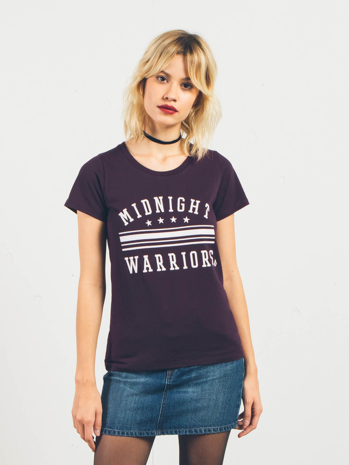 T-shirt manches courtes Radical Daze - Plum