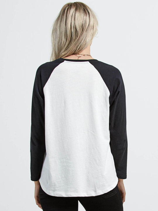 T-shirt Pop Rocket Raglan - White