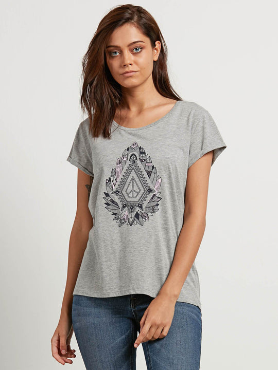 T-shirt Radical Daze  - Heather Grey