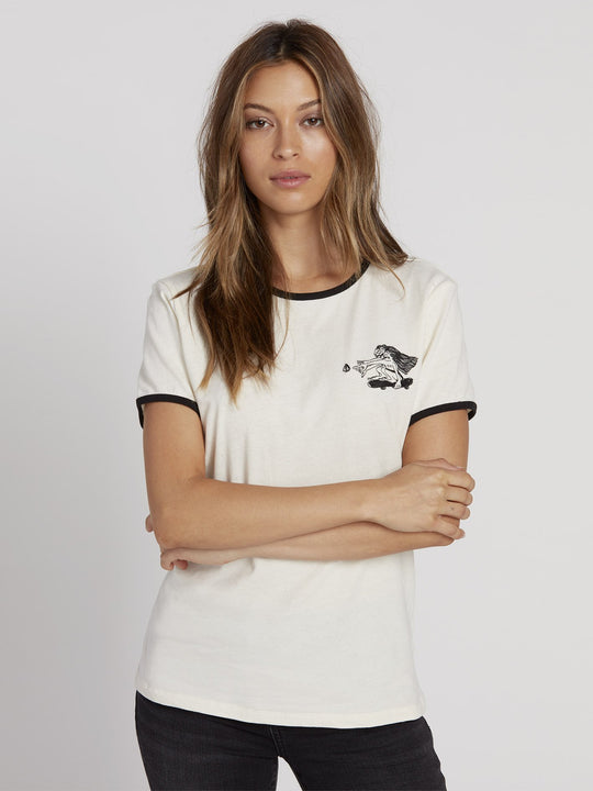 Keep Goin Ringer T-shirt - Star White (B3531951_SWH) [F]