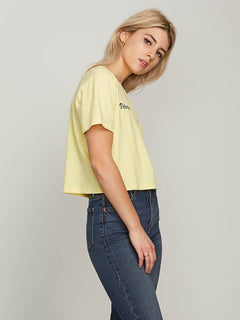 T-shirt Pocket Dial Tee - Faded Yellow