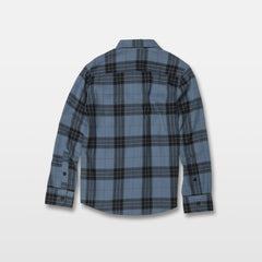 Caden Plaid Shirt - Blue Rinse (C0531906_RNE) [B]