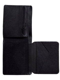 3Fold Leather Wallet - Black (D6011955_BLK) [2]