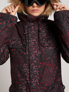 Veste de snow Shadow Ins  - Black Floral Print
