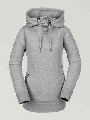 Sweat à capuche Walk On By Sherpa Heather Grey – Volcom France