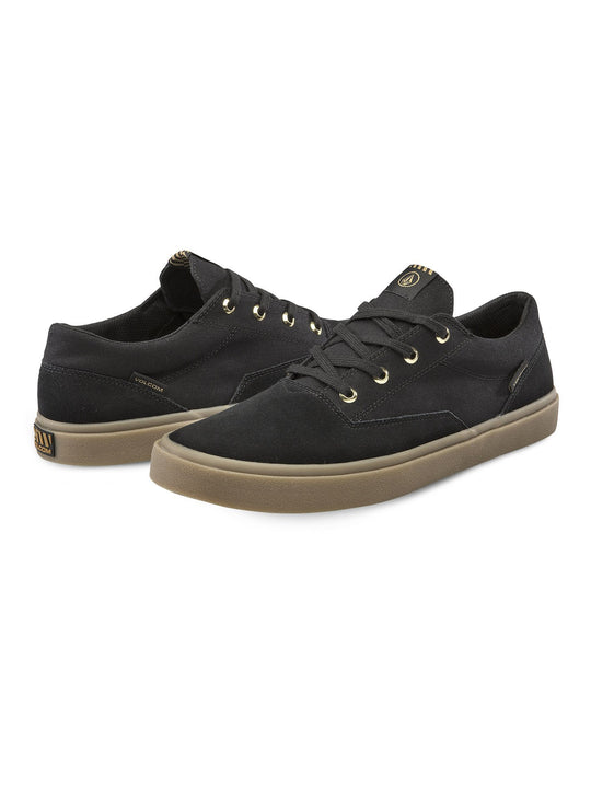 Draw Lo Suede Shoe - Black Out (V4011899_BKO) [F]