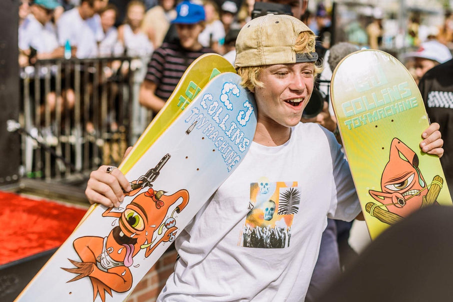 CJ Collins goes pro for Toy Machine at US Open in Huntington Beach
