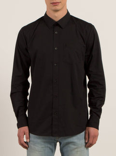 Everett Solid  Hemd - Black