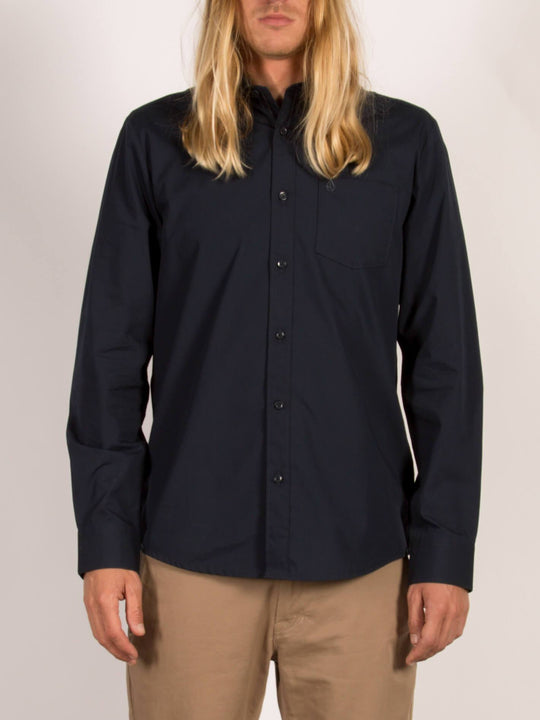 Everett Solid  Hemd - Navy