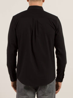 Langärmliges Hemd Oxford Stretch - Black