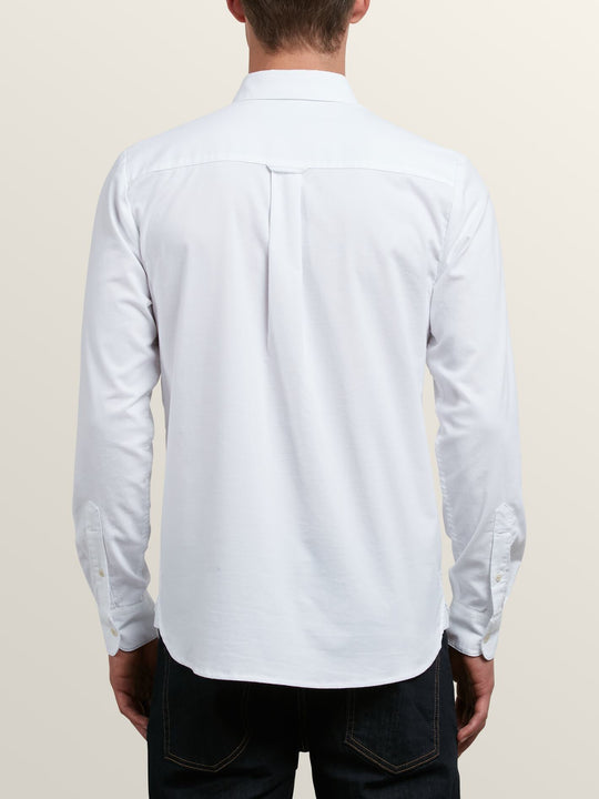Oxford Stretch  Hemd - White