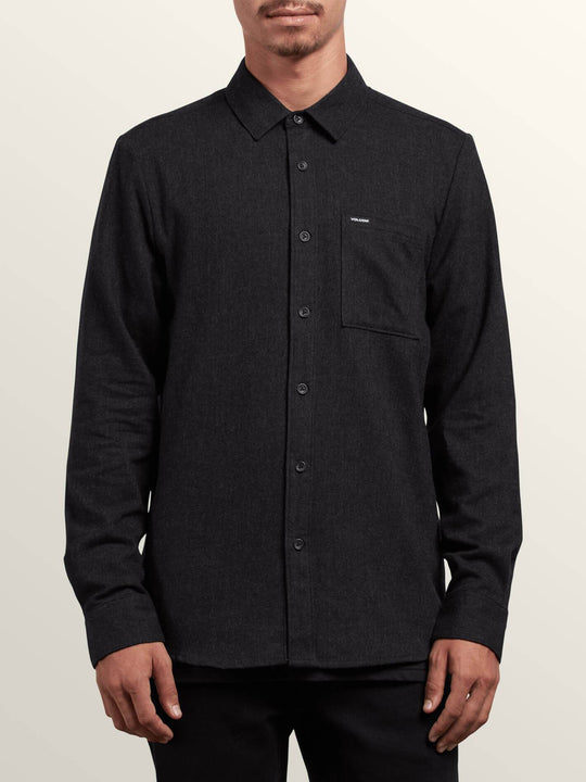 Caden Solid L/S - Black