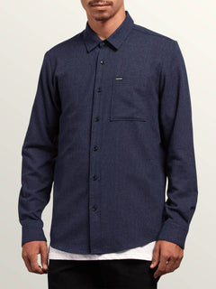 Caden Solid L/S - Midnight Blue