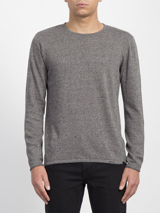 Faine Crew Sweater - Heather Grey