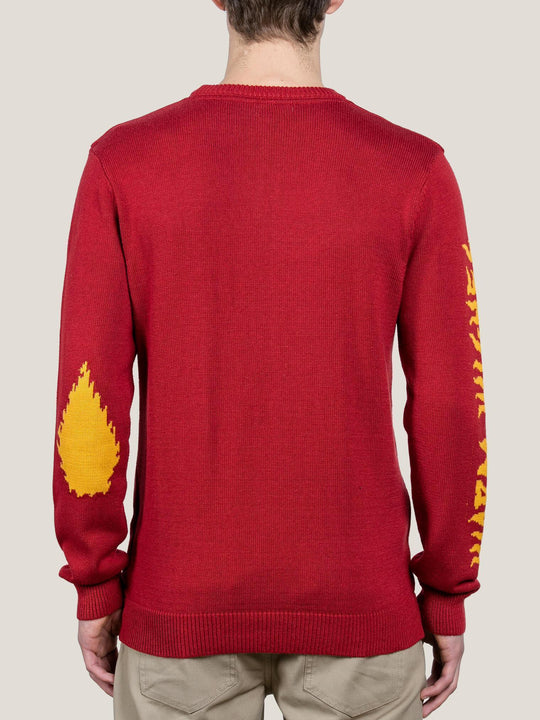 Blinken Sweatshirt Warm Wishes - Deep Red