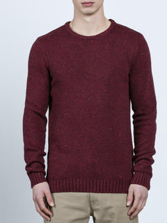 EDMONDER SWEATER HEATHER RED