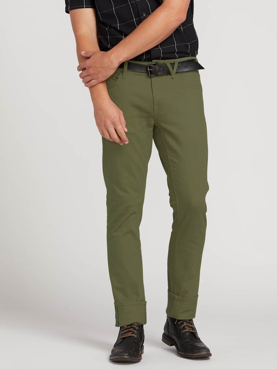 Vorta Slub Hose - Vineyard Green