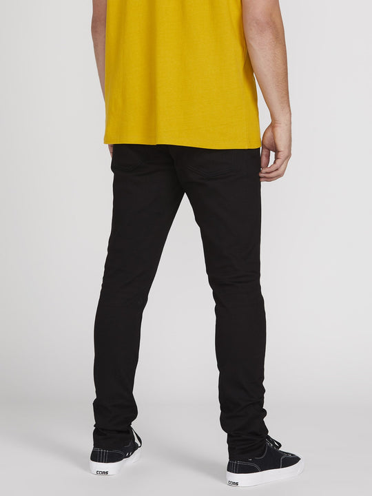 Vorta Tapered Jeans - Black On Black