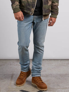 Solver Tapered Jeans - Allover Stone Light