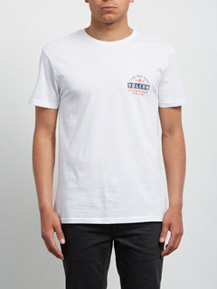 T-Shirt Barred Basic - White