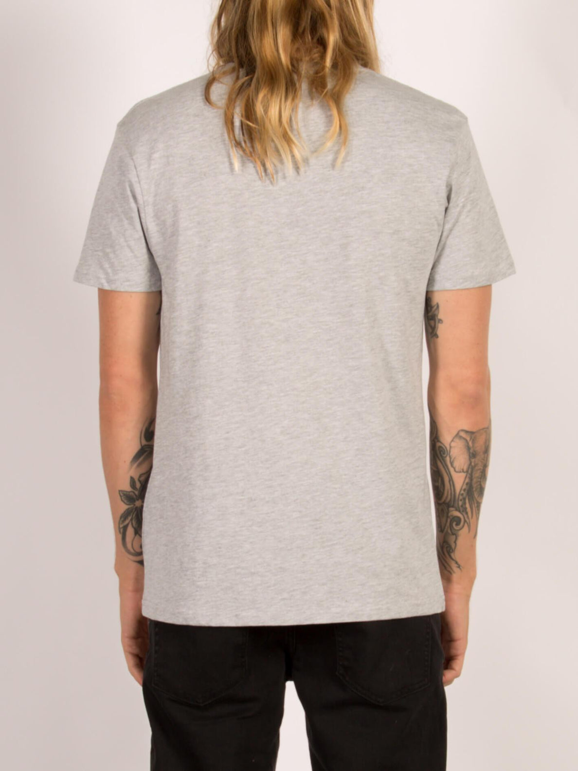 T-Shirt Circle Stone Basic - Heather Grey