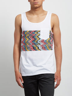 Pocket Tanktop Lofi Heather - White