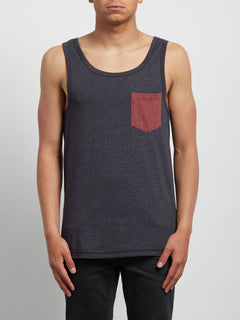 Tanktop Pocket Heather - Heather Black