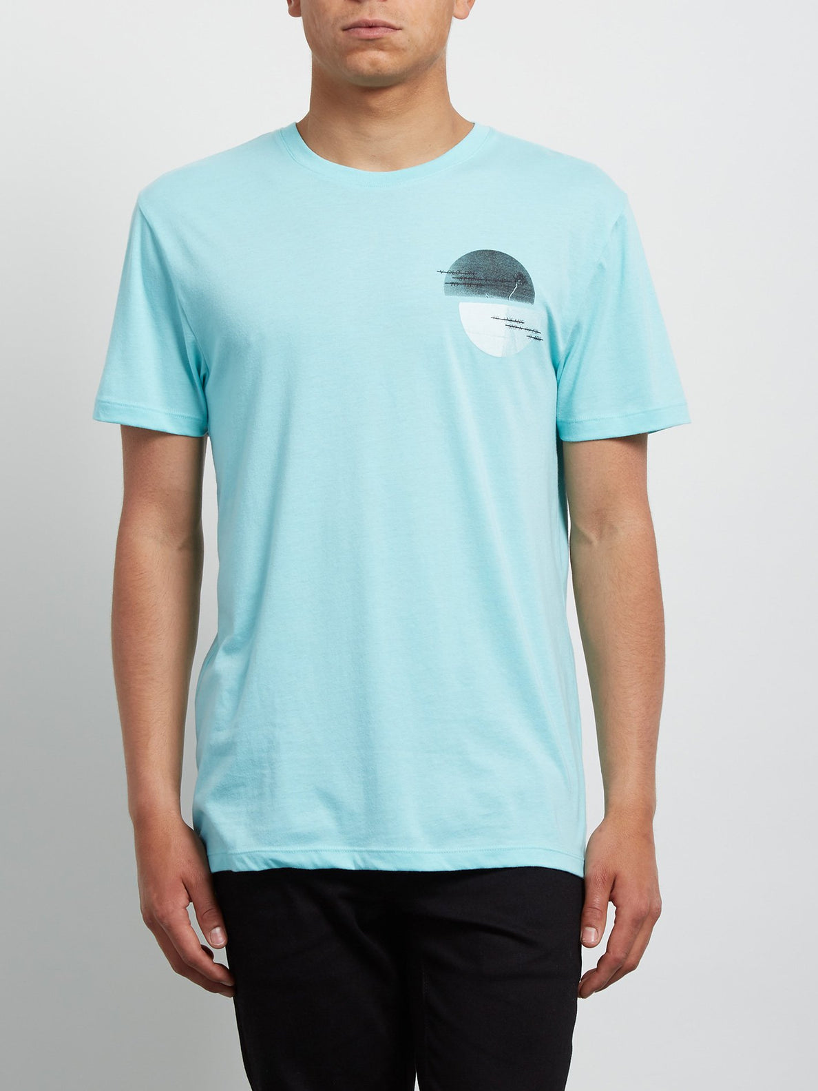 T-Shirt Over Ride Double Dye - Pale Aqua