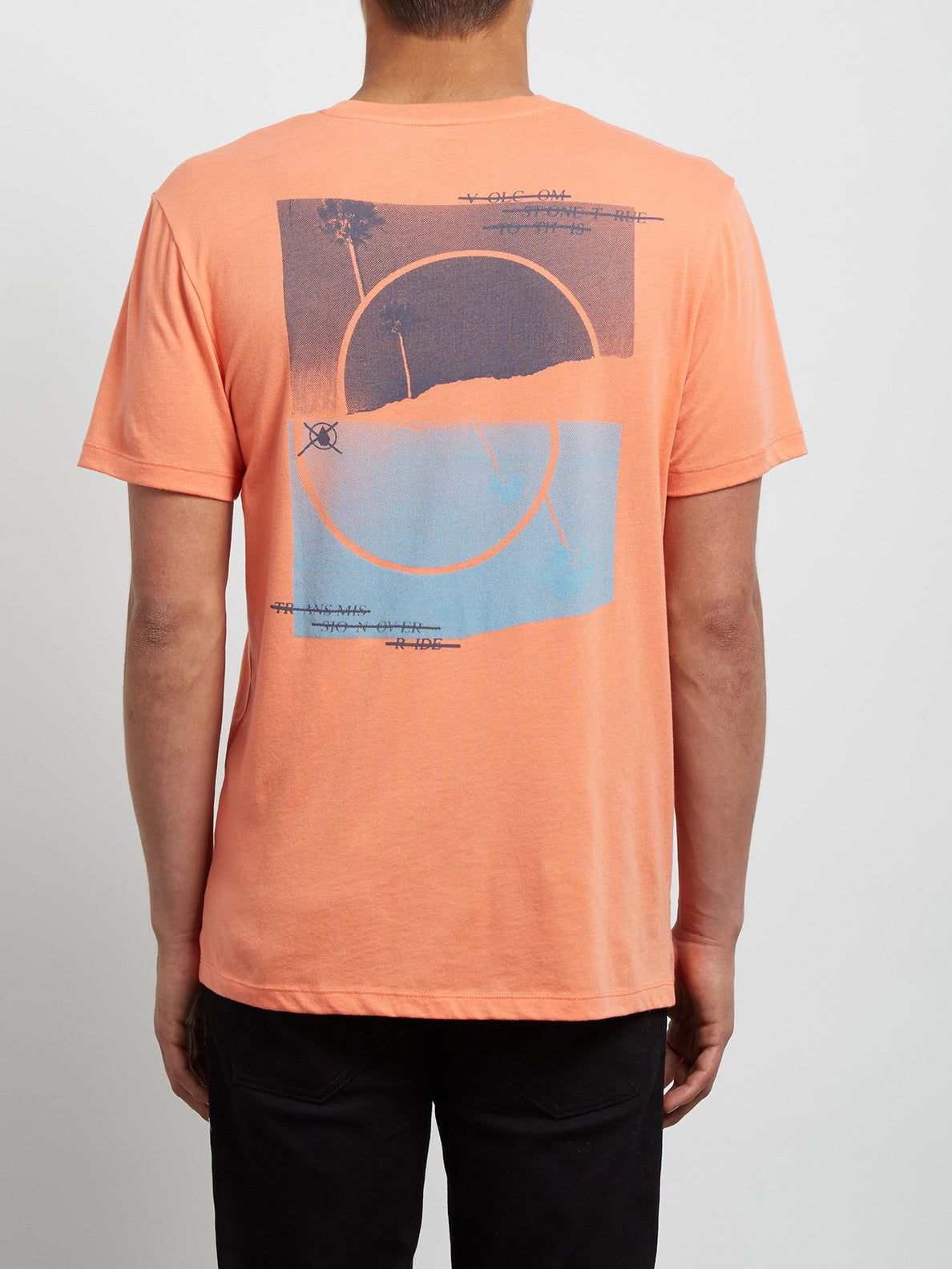 T-Shirt Over Ride Double Dye - Salmon