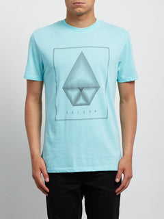 T-Shirt Concentric Double Dye - Pale Aqua