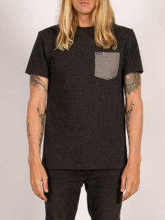 Pocket T-Shirt Contra - Heather Black