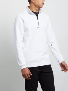Sweatshirt Dixon Mock - White