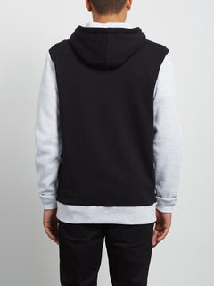 Hoodie mit Frontzip Single Stone Division Zip - Black