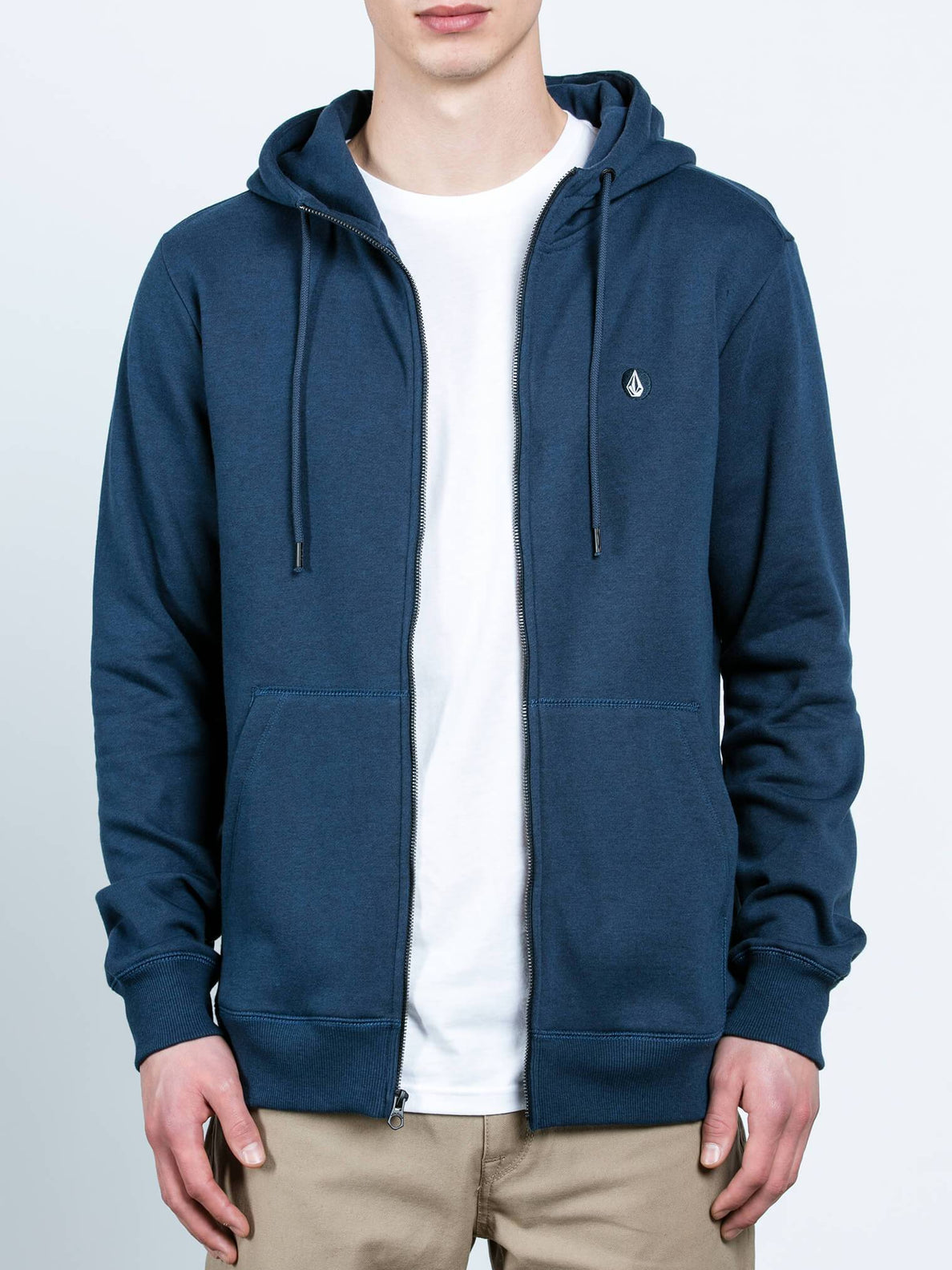 Sngl Stn Zip - Blue Black