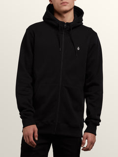 Sngl Stn Zip - Black