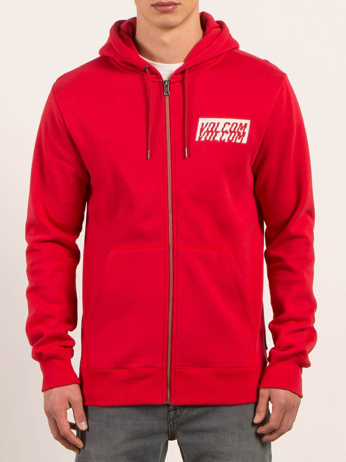 Hoodie mit Frontzip Supply Stone - True Red