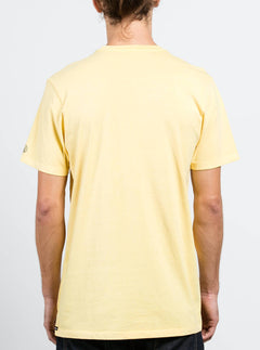 Kurzärmliges T-Shirt Pale Wash Solid - Light Yellow
