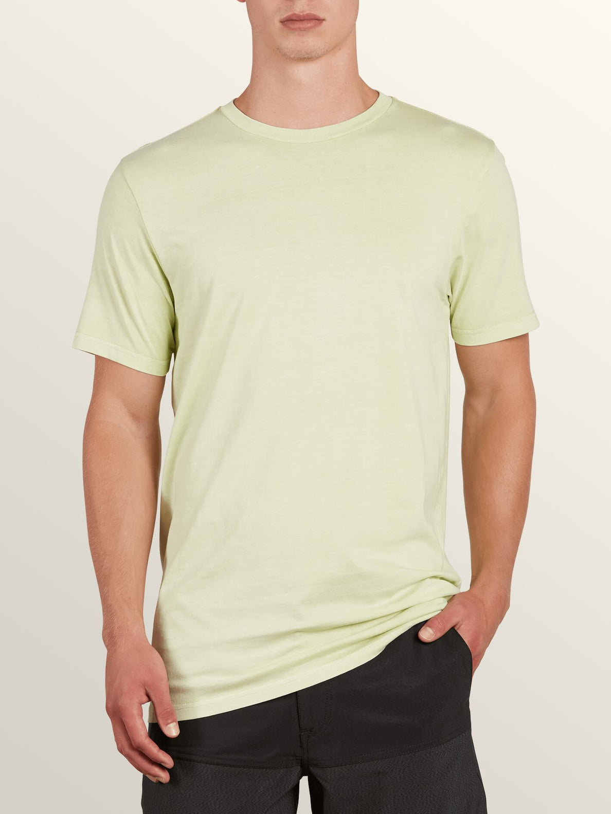 Kurzärmliges T-Shirt Pale Wash Solid - Mist Green