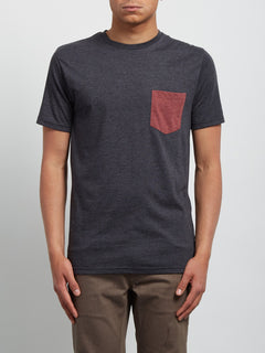 Pocket T-Shirt Pocket Heather - Heather Black