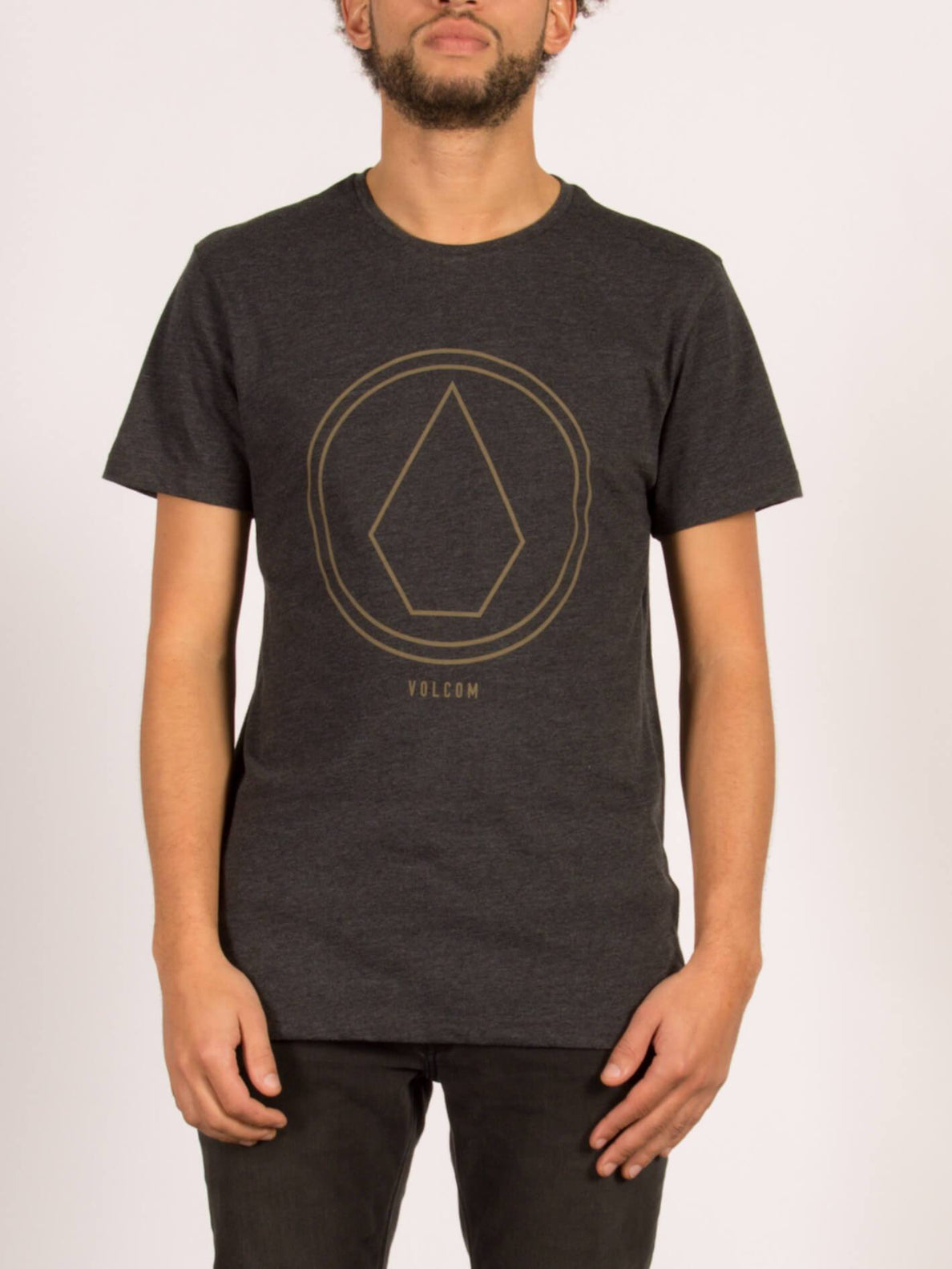 T-Shirt Pinline Stone Heather - Heather Black