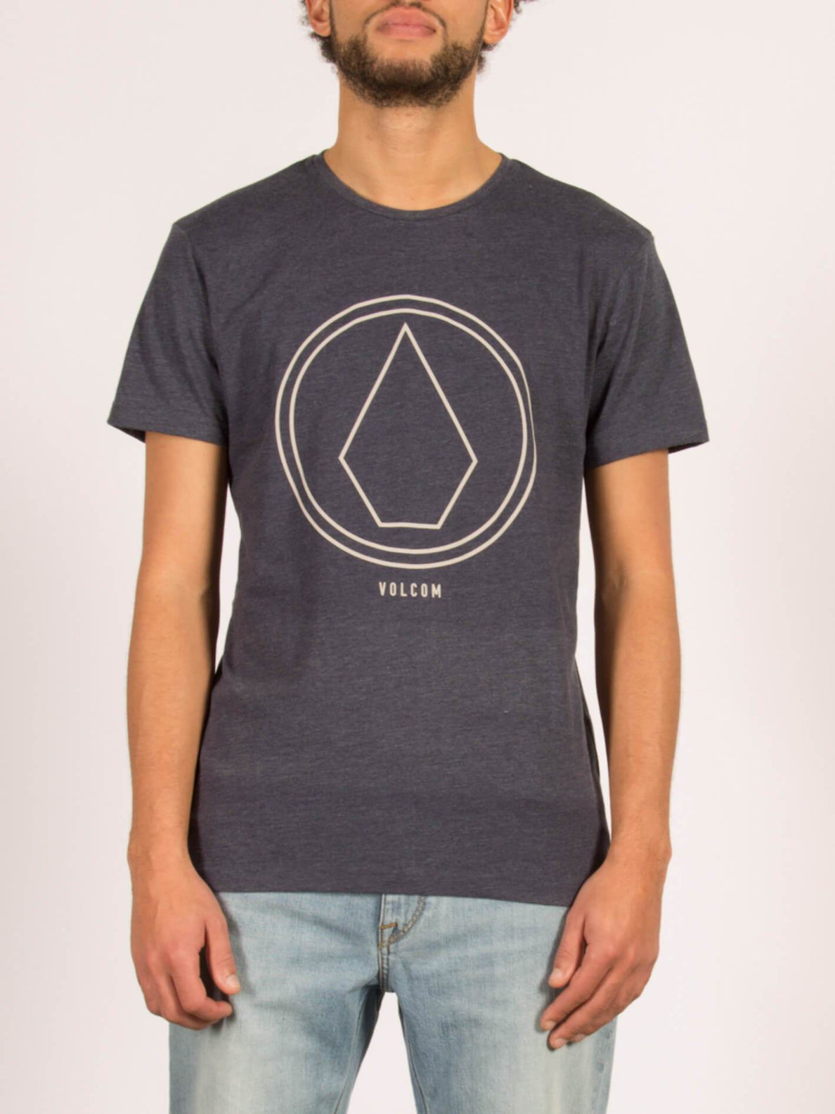 T-Shirt Pinline Stone Heather - Indigo