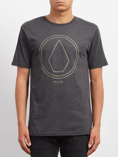 Pinline Stone Hth  T-shirt - Heather Black
