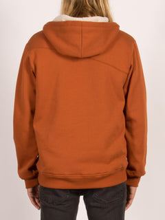 Sngl Stn Lined Zip Sweatshirts - Copper