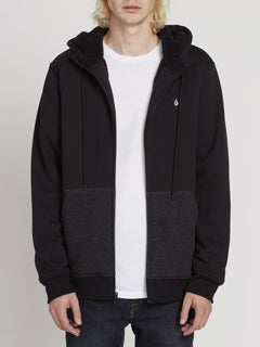 Single Stone Lined Zip Hoodie - Black (A5831900_BLK) [1]