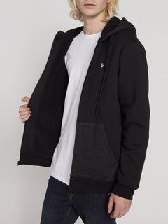 Single Stone Lined Zip Hoodie - Black (A5831900_BLK) [2]